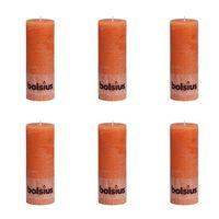 Bolsius Rustikale Stumpenkerzen 6 Stk. 190 x 68 mm Orange