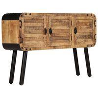 vidaXL Sideboard Mangoholz Massiv 120 x 30 x 76 cm