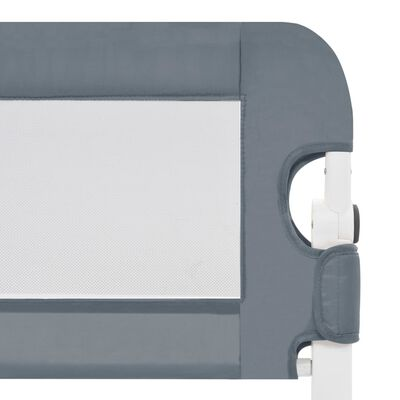 vidaXL Kleinkind-Bettschutzgitter Grau 180x42 cm Polyester