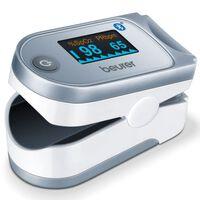 Beurer Bluetooth Pulsoximeter PO 60 Weiß und Grau