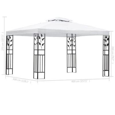 vidaXL Gartenpavillon Weiß 3×4 m