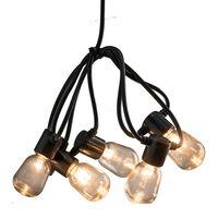 KONSTSMIDE Party-Lichterkette mit 40 Klaren Ovalen Lampen Extra-Warm