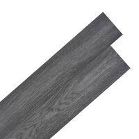 vidaXL PVC Laminat Dielen Selbstklebend 5,02 m² 2 mm Schwarz und Weiß