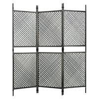 vidaXL 3-tlg. Raumteiler Poly Rattan Anthrazit 180 x 200 cm