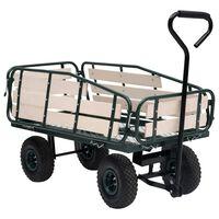 vidaXL Gartenwagen Metall und Holz 250 kg
