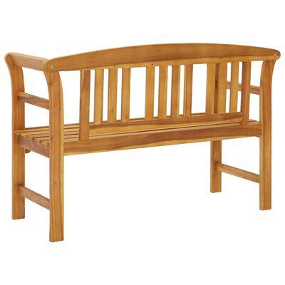 vidaXL Gartenbank mit Auflage 120 cm Massivholz Akazie