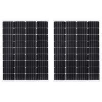 vidaXL Solarmodule 2 Stk 100W Monokristallin Aluminium Sicherheitsglas