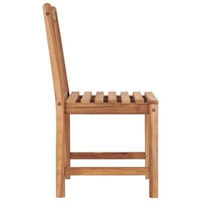 vidaXL Gartenstühle 2 Stk. mit Kissen Massivholz Teak