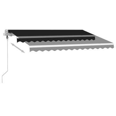 vidaXL Standmarkise Automatisch 300x250 cm Anthrazit