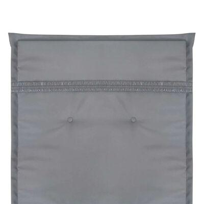 vidaXL Gartenstuhl Auflage Hochlehner 2 Stk. Grau 120 x 50 x 3 cm