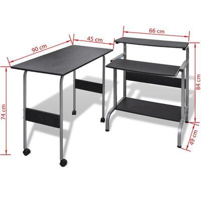 Computertisch Schreibtisch Computerwagen PC Tisch Bürotisch schwarz