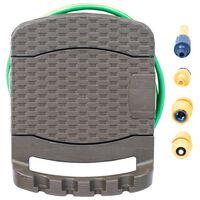 vidaXL Wand-Schlauchtrommel mit Schlauch Braun Kunststoff