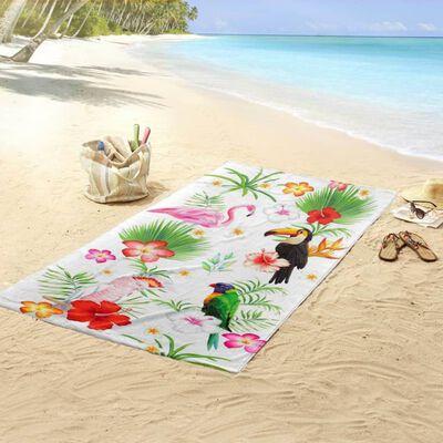 Good Morning Strandtuch PARADISE 100×180 cm Mehrfarbig
