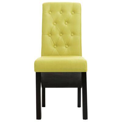 vidaXL Esszimmerstühle 4 Stk. Grün Stoff