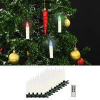 vidaXL Kabellose LED-Weihnachtskerzen mit Fernbedienung 50 Stk. RGB