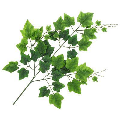 vidaXL Künstliche Blätter Traube 10 Stk. Grün 70 cm