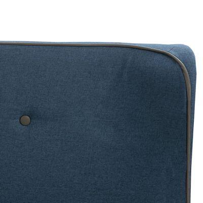 vidaXL Bett mit Memory-Schaum-Matratze Blau Stoff 140×200 cm