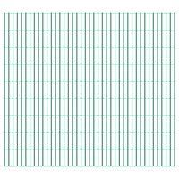 vidaXL 2D Gartenzaun-Elemente 2,008x1,83 m Gesamtlänge 50 m Grün