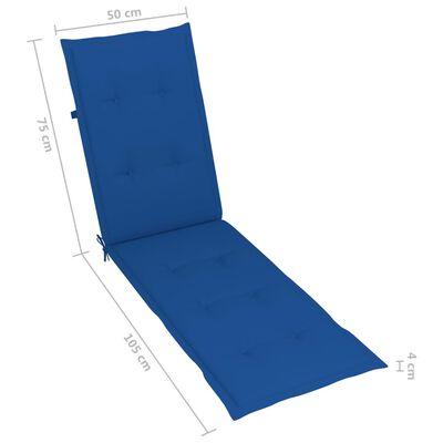 vidaXL Liegestuhl mit Fußstütze und Auflage Massivholz Akazie