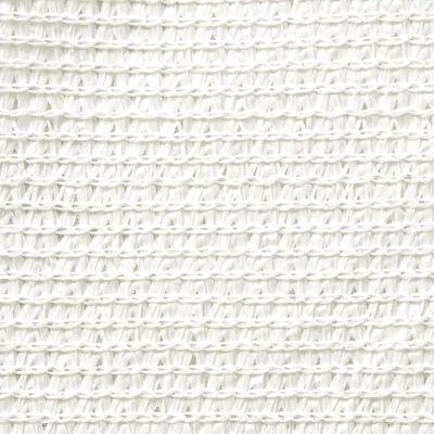 vidaXL Sonnensegel HDPE Quadratisch 3,6 x 3,6 m Weiß