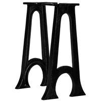 vidaXL Sitzbank-Beine 2 Stk. mit Gewölbtem Fuß A-Gestell Gusseisen