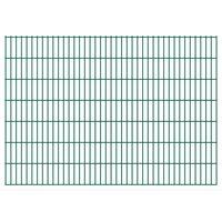 vidaXL 2D Gartenzaun-Elemente 2,008x1,43 m Gesamtlänge 4 m Grün