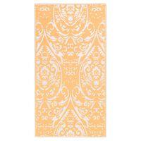 vidaXL Outdoor-Teppich Orange und Weiß 120x180 cm PP