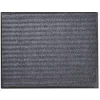 vidaXL Fußmatte PVC Grau 90x120 cm