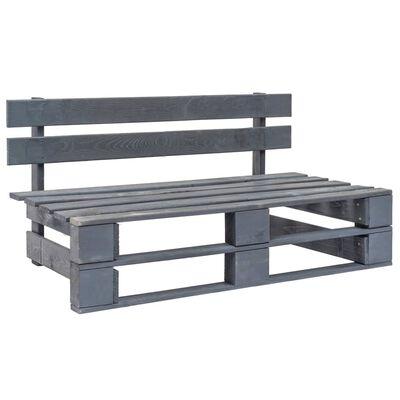 vidaXL Garten-Palettenbank Holz Grau