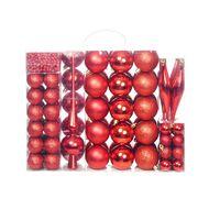 vidaXL 113-tlg. Weihnachtskugel-Set 6 cm Rot