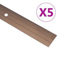 vidaXL Übergangsprofil 5 Stk. Aluminium 134 cm Braun