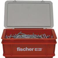 Fischer Nagelschrauben-Set mit Dübeln N6x80 300 Stk.