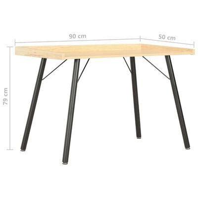 vidaXL Schreibtisch Eiche 90×50×79 cm