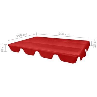 vidaXL Ersatzdach für Gartenschaukel Rot 226x186 cm