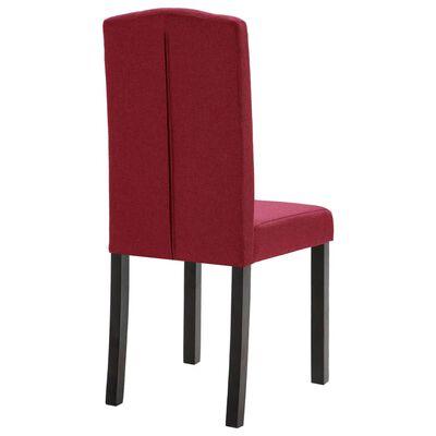 vidaXL Esszimmerstühle 4 Stück Weinrot Stoff
