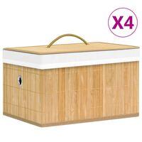 vidaXL Bambus Aufbewahrungsboxen 4 Stk.