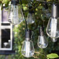 Luxform Solarbetriebene Partylichter 10 LEDs Alicante Transparent