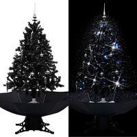 vidaXL Schneiender Weihnachtsbaum mit Schirmfuß Schwarz 140 cm PVC