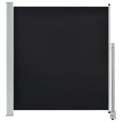 vidaXL Ausziehbare Seitenmarkise 140 x 300 cm Schwarz