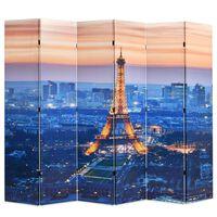 vidaXL Raumteiler klappbar 228 x 170 cm Paris bei Nacht