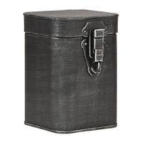 LABEL51 Aufbewahrungsbox 12x13x17 cm M Antik-Schwarz