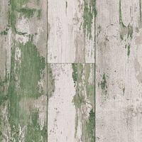 DUTCH WALLCOVERINGS Tapete Holzoptik Grün und Beige