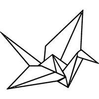 Homemania Wanddekoration Origami-Kranich 41x33 cm Metall Schwarz