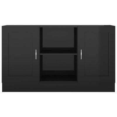 vidaXL Sideboard Hochglanz-Schwarz 120x30,5x70 cm Spanplatte