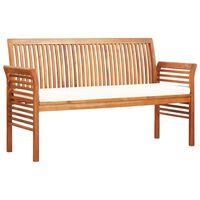 vidaXL 3-Sitzer Gartenbank mit Kissen 150 cm Massivholz Akazie