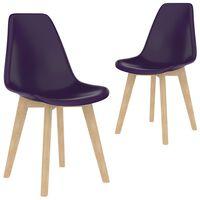 vidaXL Esszimmerstühle 2 Stk. Lila Kunststoff