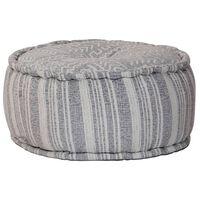 vidaXL Handgefertigter Sitzpuff mit Muster Blau 50 x 25 cm Baumwolle