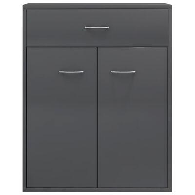 vidaXL Sideboard Hochglanz-Grau 60 x 30 x 75 cm Spanplatte