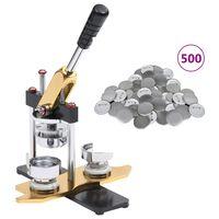 vidaXL Buttonmaschine mit 500 Button-Teilen 25 mm Drehstanze