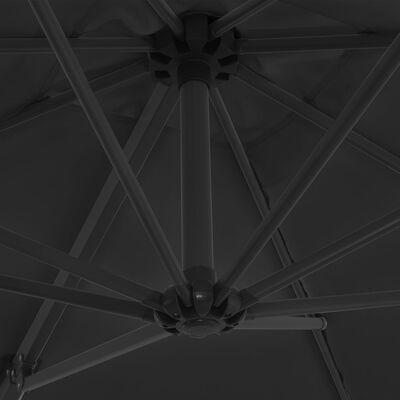 vidaXL Ampelschirm mit Stahlmast Anthrazit 250 x 250 cm